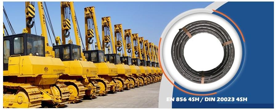 4 vadu spirālveida augstspiediena hidraulisko šļūteņu ražotāji piegādā 4SH šļūteni