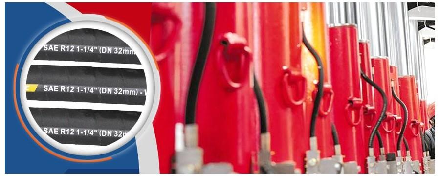 Fornecedor de tubos de mangueira hidráulica em espiral de 4 fios SAE 100R12 por atacado com o melhor preço