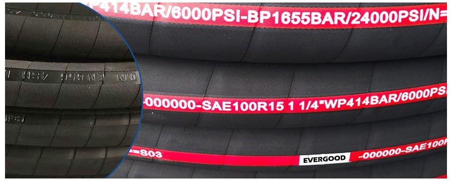 Skräddarsydd högtryckshydraulslang SAE 100 R15 med hydrauliska beslag nära mig