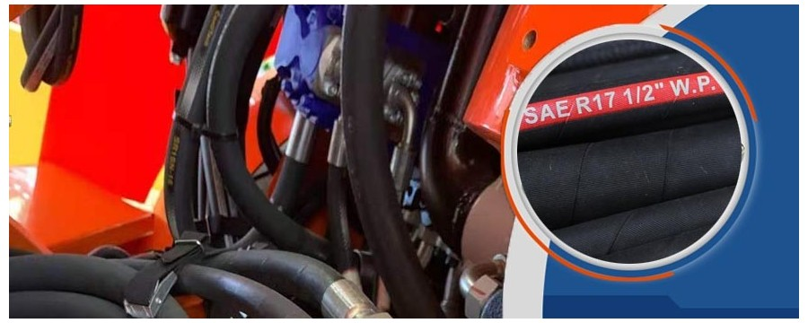 Bulk 3000 PSI hydraulische slang SAE 100 R17 kan snel worden vervaardigd in Chinese fabriek