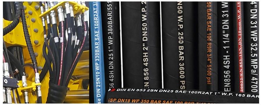 Augstspiediena hidrauliskās gumijas šļūtenes cauruļu ražotājs Ķīnā smagajai rūpniecībai