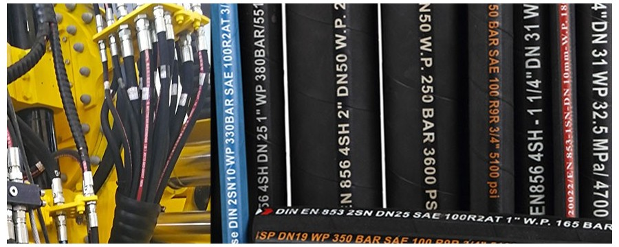 High Pressure Hydraulic Rubber Hose Pipe Manufacturer in China for Heavy Industry