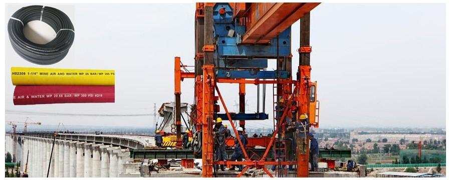 Bästa leverantörer av hydraulslangar ger bästa gummislang för konstruktion