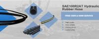 Lanksčios hidraulinės guminės žarnos gamyklos tiekimo pynė SAE 100 R2 AT ir EN 853 2SN šalia manęs