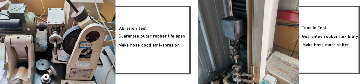 evergood hydraulic hose factory make rubber test