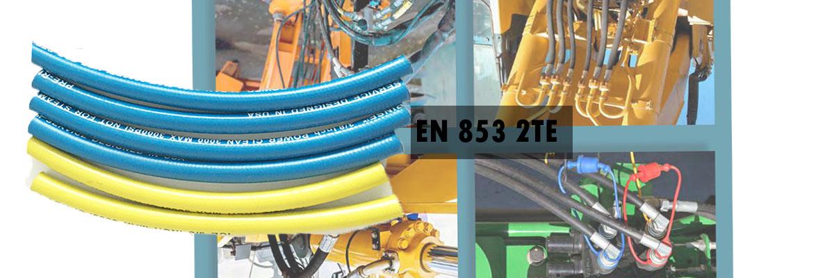 flexible hose pipe manufacturer make en 853 2te hydraulic hose
