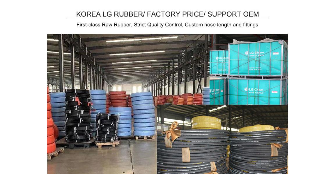 špičková továreň na hydraulické hadice v Číne
