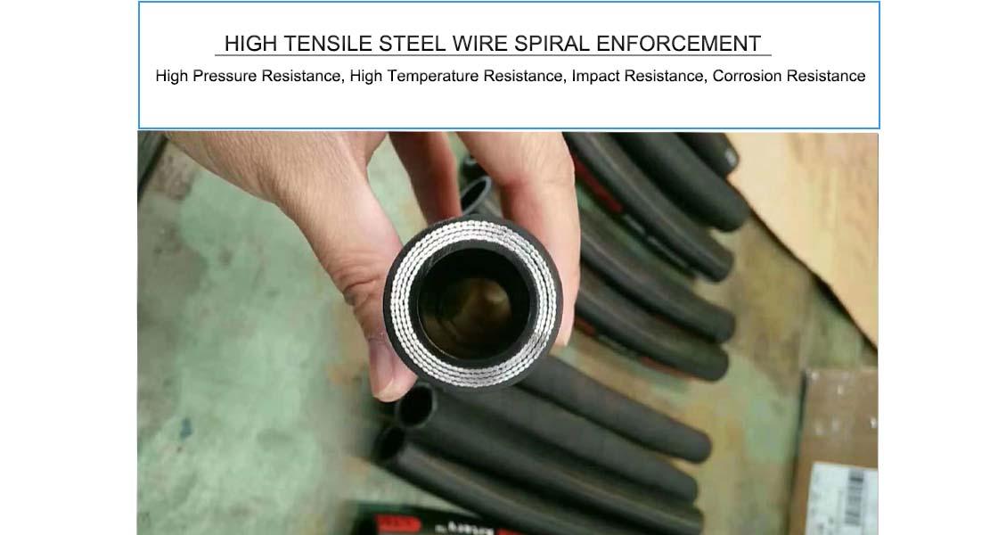 Proveedores de mangueras hidráulicas de alta presión de alambre helicoidal 4sh 4sp en emiratos árabes unidos